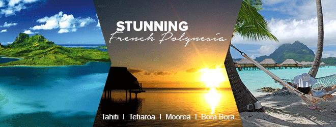 Experience holidays in French Polynesia by going to Tahiti, Bora Bora, Moorea and its surrounds. A tranquil and divine place for couples on honeymoon and weddings. Best deals available in 2016-2017.