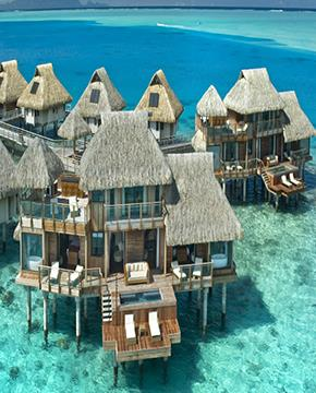 Overwater Bungalow and Mountain 550x365