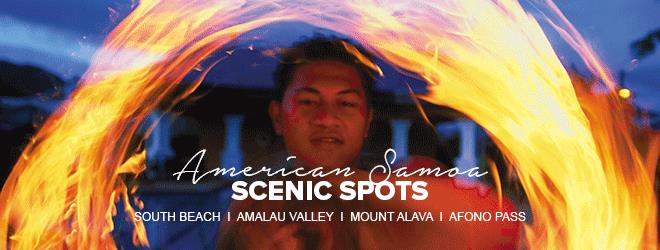 Experience American Samoa culture by visiting South Beach, Amalau Valley, Mount Alava or Afono Pass.