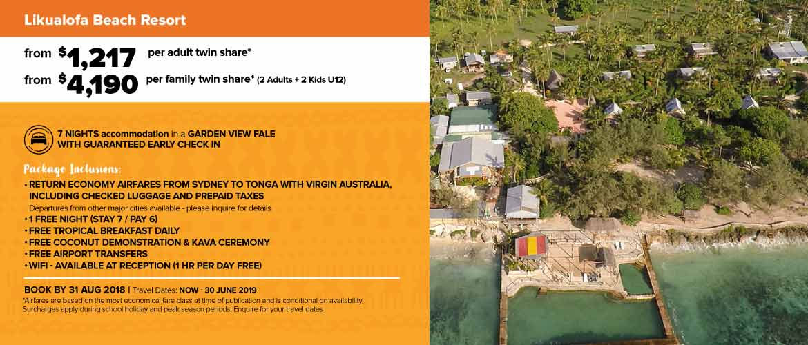Likualofa Beach Resort Nuku'alofa, Tonga Holiday Specials packages deals  2018
