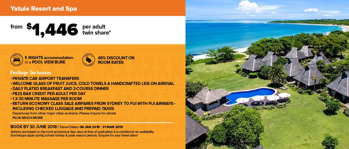 Yatule Resort and Spa All Inclusive Package