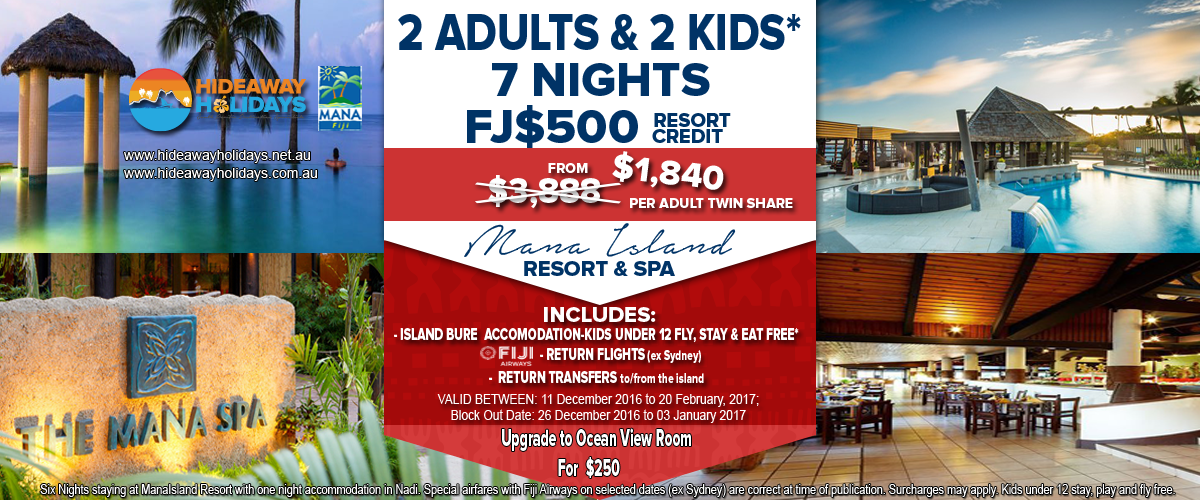 Mana Island Holiday package