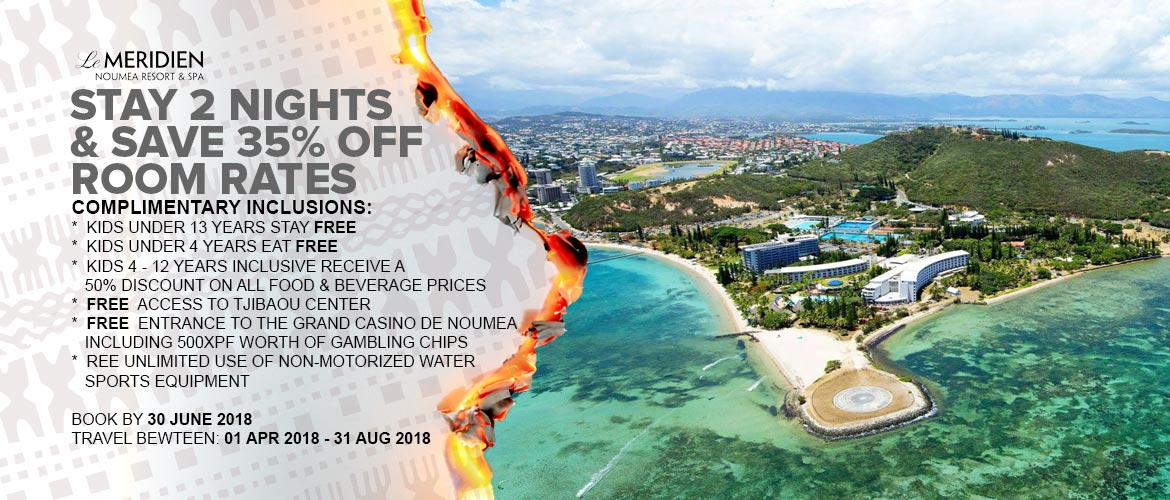 Le Meridien Noumea Holiday Offers 2018
