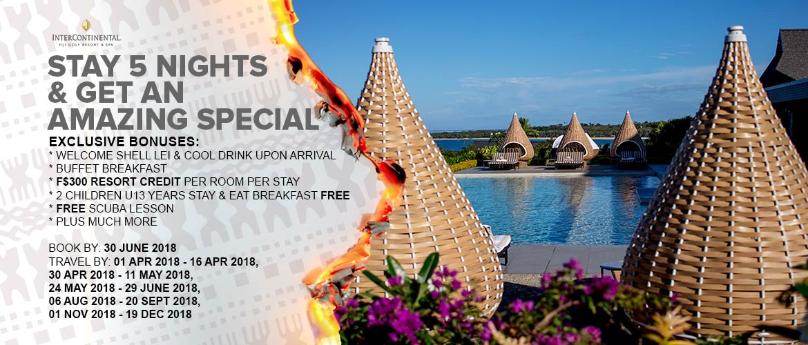 InterContinental Fiji Golf Resort and Spa, Coral Coast Travel Special Holiday special 2018